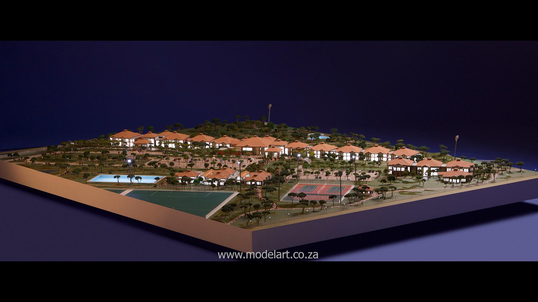 Architectural-Scale-Model-Sports Facilities-Royal Bafokeng Campus 2-2