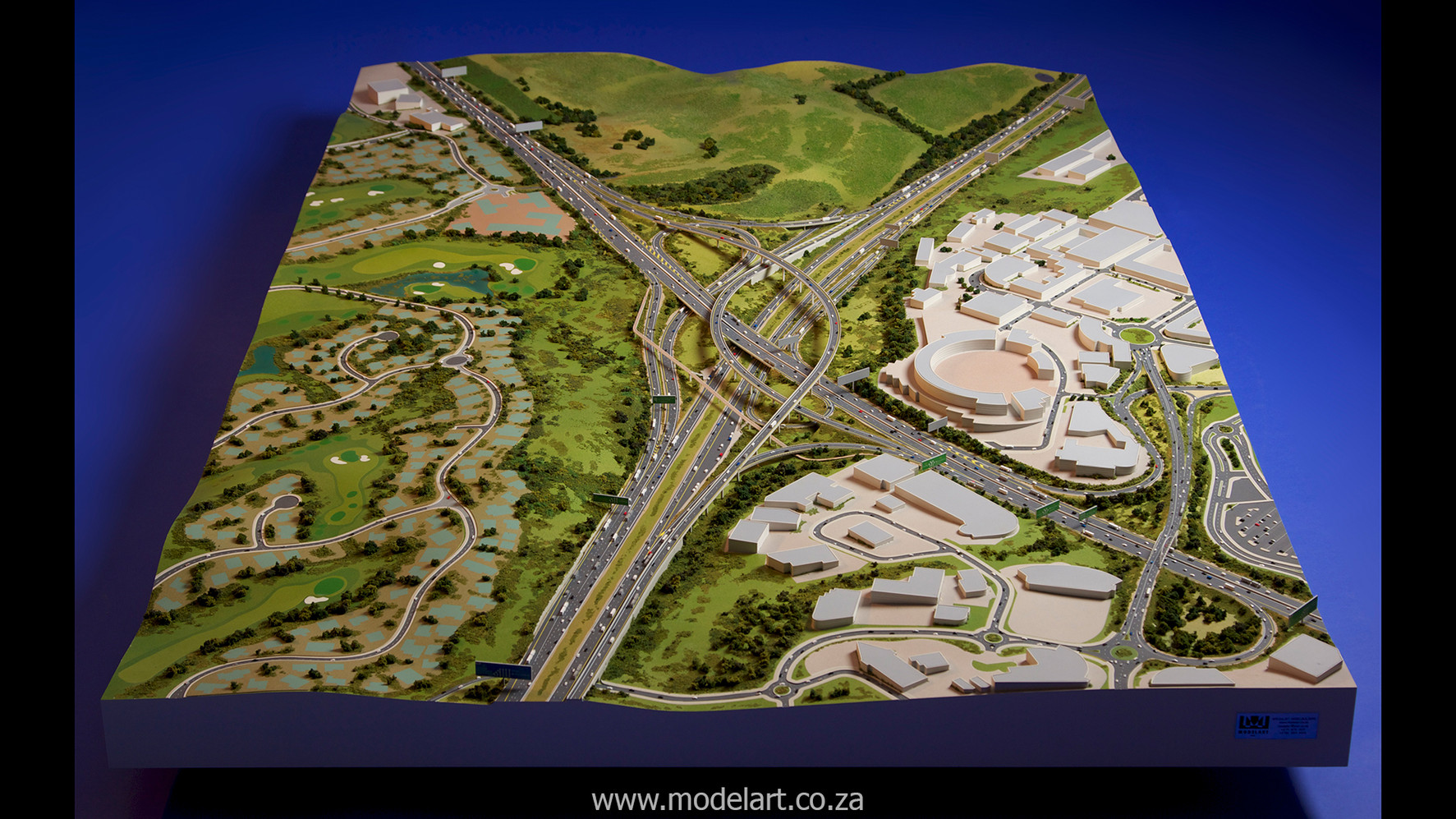 Architectural-Scale-Model-Engineering-Mt Edgecomb Interchange-3