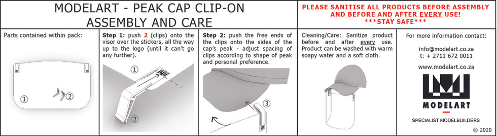 Peak Cap Clip-On Visor