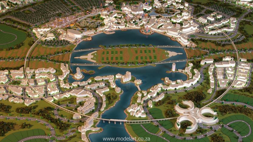 Architect Model-Masterplan-Thukela River Project4