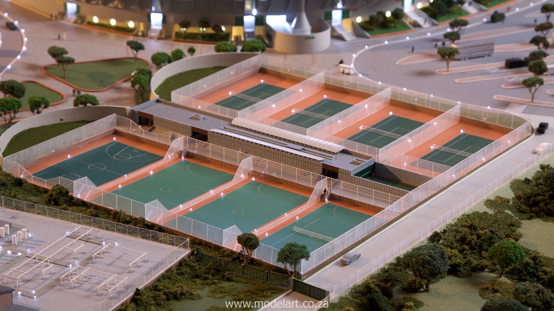 Architectural-Scale-Model-Sports Facilities-Royal Bafokeng Stadium-6