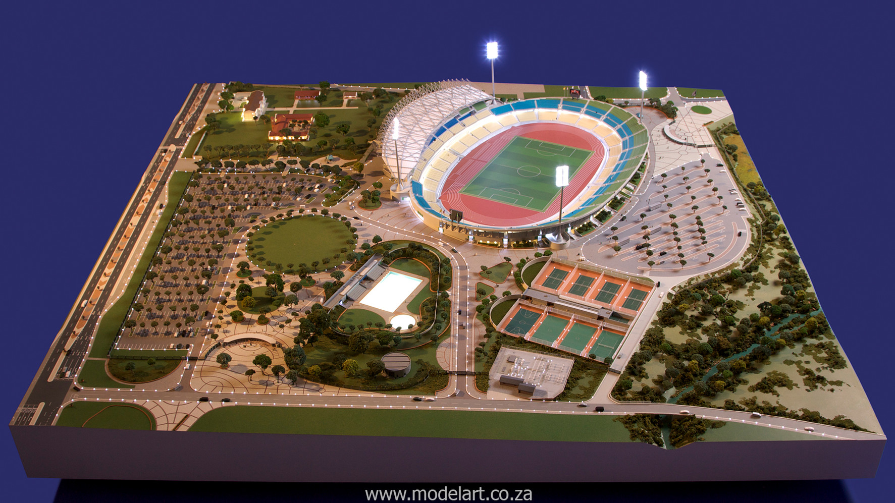 Architectural-Scale-Model-Sports Facilities-Royal Bafokeng Stadium-3