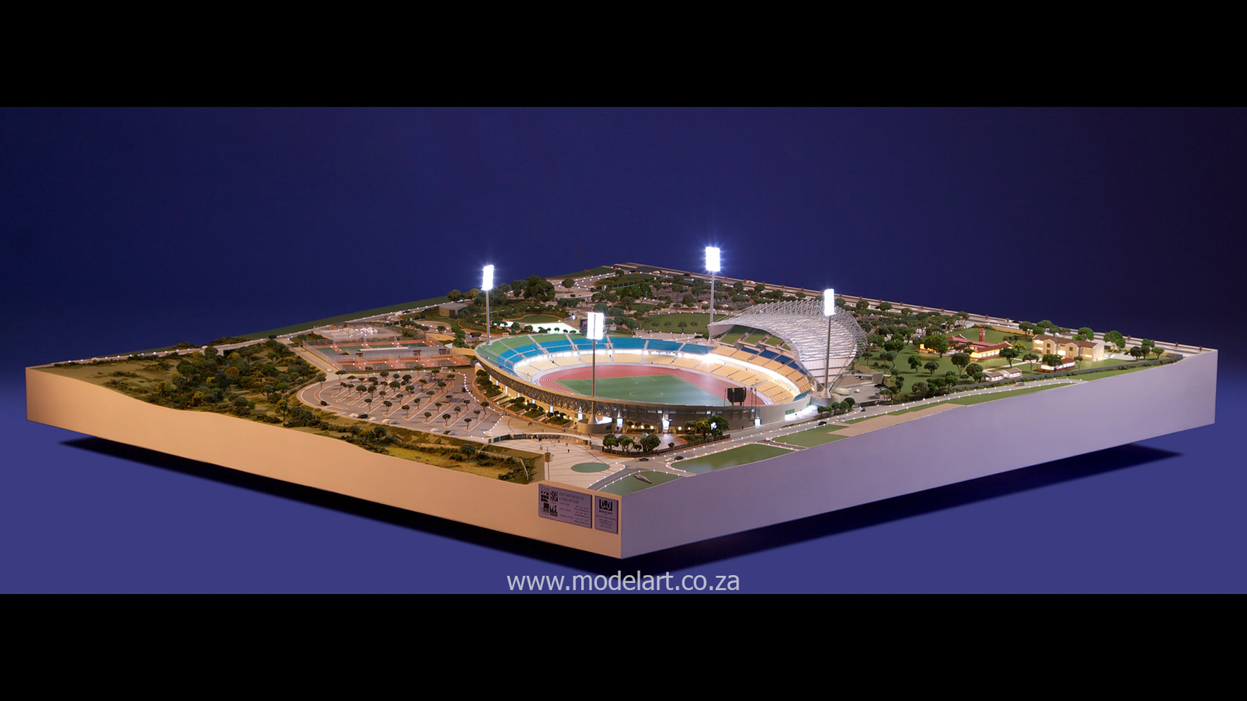 Architectural-Scale-Model-Sports Facilities-Royal Bafokeng Stadium-2
