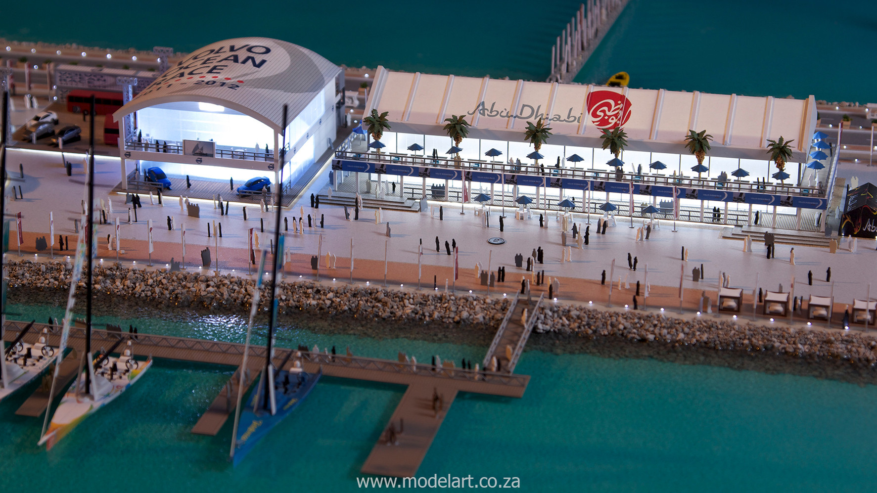 Architectural-Scale-Model-Sports Facilities-Volvo Ocean Race-1-1