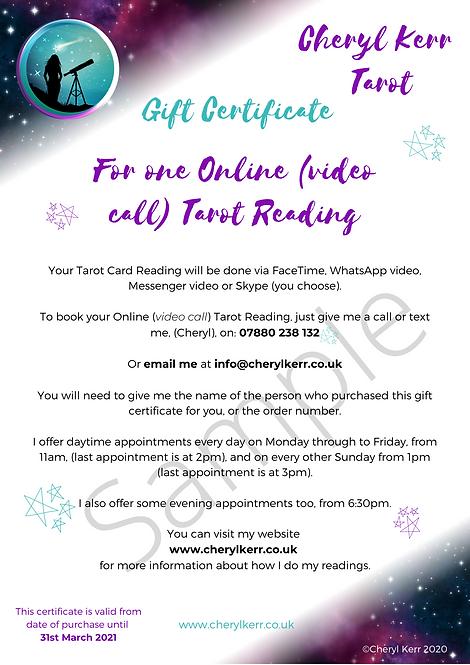 Gift Certificate Tarot Reading