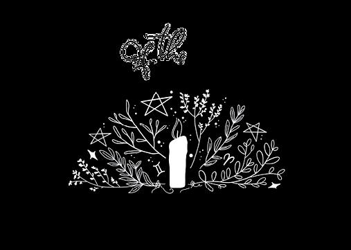 Secrets of the Cauldron logo b&w