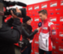 🎥🎤Interviewing Casey Stoner earlier to