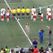 National Anthem at Giants Stadium
