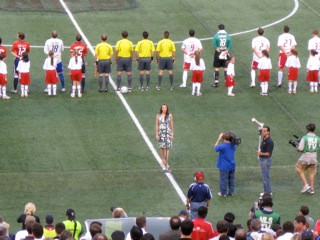 National Anthem at Giants Stadium