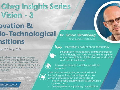 Vision 3 - Innovation and Socio-technological Transitions