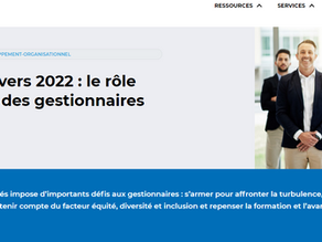 En route vers 2022 : le rôle essentiel des gestionnaires
