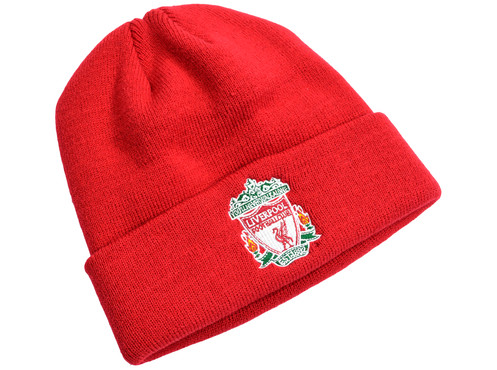 810e2590406 Liverpool F.C. Knitted Bronx Crest Hat Red