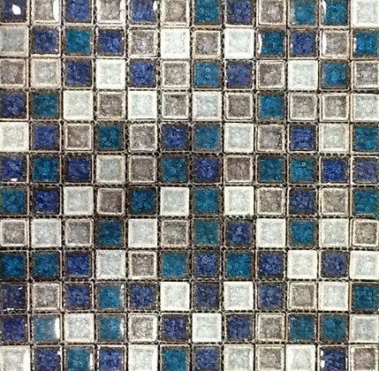 Mosaico Vidrio Desierto Azul Cobalto 31x31