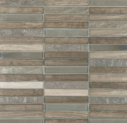 Mosaico Vidrio Piedra Skyline Grey 30x30