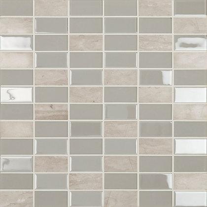 Mosaico Adhesivo Crystal Piedra Grey 30x30