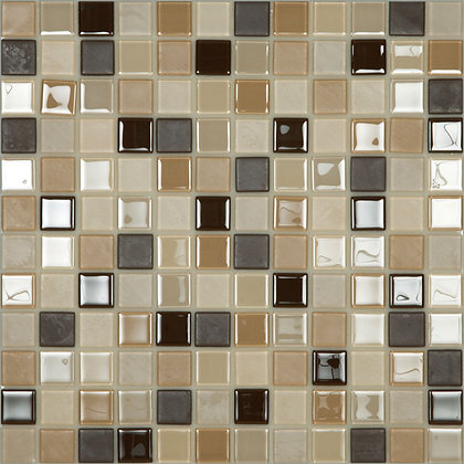 Mosaico Adhesivo Crystal Mix Beige 30x30