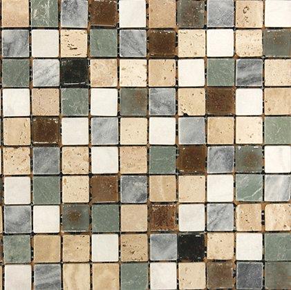 Mosaico Marmol Vidrio Sky2 Mult 30.5x30.5