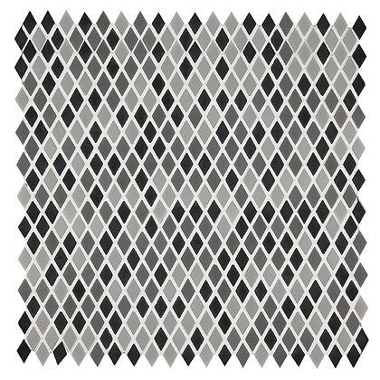 Mosaico Diamond Black Vidrio Reciclado 30x30