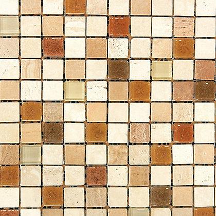 Mosaico Marmol Vidrio Moon 2 Mult 30.5x30.5
