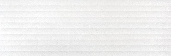 Cerámica Basic Dec White Strutturado Rect 30x90