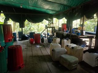 Encontraron otro laboratorio de droga en Sucumbíos