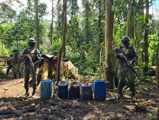 Localizan campamento donde realizaban actividades ilegales