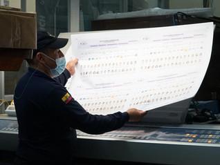 La impresión de papeletas electorales alcanzó un avance del 43,23 %