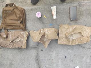 Menor llevaba pegado a su cuerpo paquetes de droga