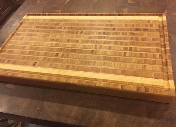 Bamboo 2-Tone block cutting board
