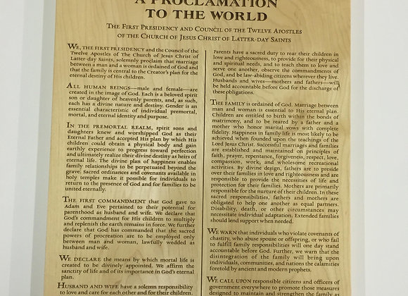 Proclamation to the world: The Family