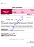 Sample confirmed hotel booking reservation