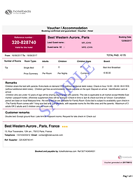 hotel booking for visa, confirm booking, hote voucher