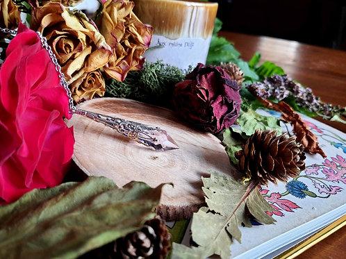 Larme d'Arwen (Swarovski®) (rose) (argenté)