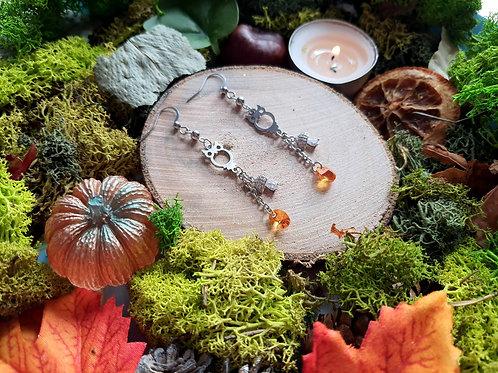 """Boucles """"Hulule champêtre"""" (champignon)"""