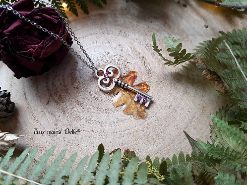 """LONG SAUTOIR """"Gardienne de la nature"""" (cristaux swarovski®) (petit modèle)"""