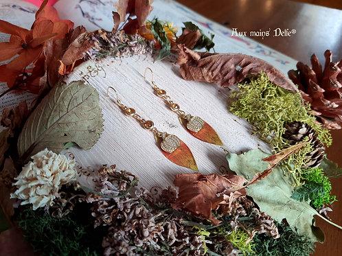 """Boucles """"Citrouilles de la Comté"""" (orange)"""