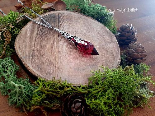 Larme d'Arwen (Cristal Swarovski®) (Rouge)(argenté)