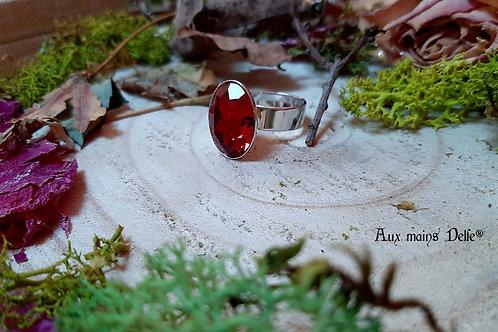 Ruz (cristal Swarovski®) (Rouge-Argenté)