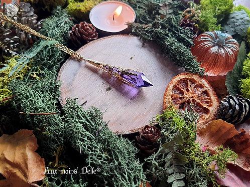 Larme d'Arwen Swarovski® (violet) (doré)