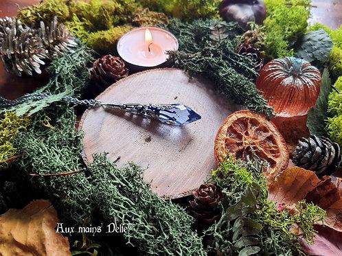 Larme d'Arwen Swarovski® (bleu ciel) (argenté)