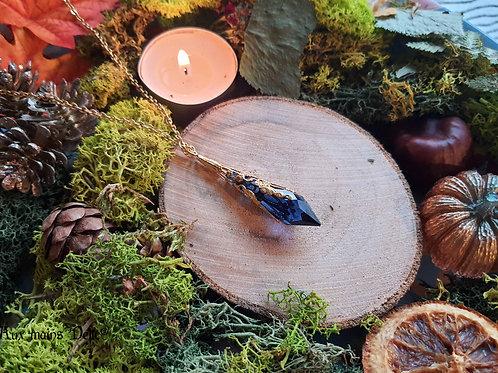Larme d'Arwen Swarovski® (bleu nuit) (doré)