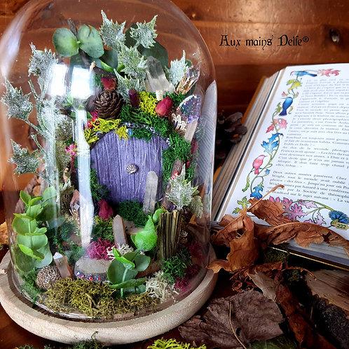 """Cloche """"Le jardin aux cristaux"""""""