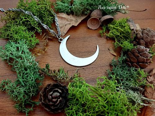 """Collier """"Lune d'argent"""""""