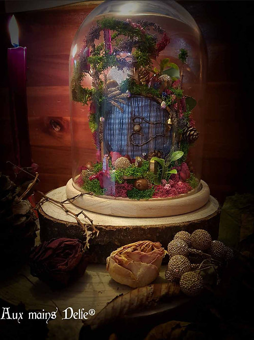 """Cloche """"Le bosquet de roses"""" (cristaux Swarovski®)"""