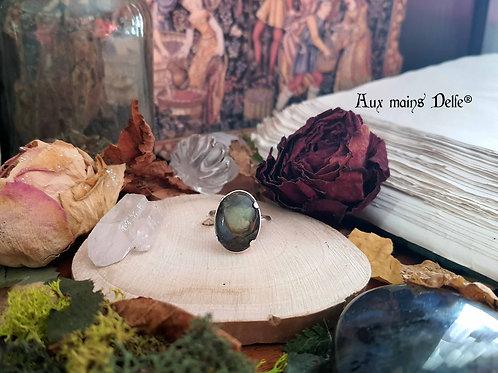 """""""Damoiselle Médiévale"""" (Labradorite) argent-925"""