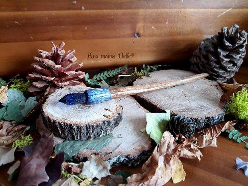 Pic à cheveux elfique (bleu)