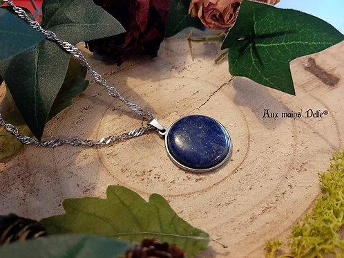 Médaillon d'Eowyn (lapis Lazuli) Acier