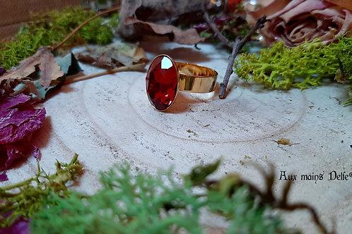 Ruz (DORE) (cristal Swarovski®) (Rouge)