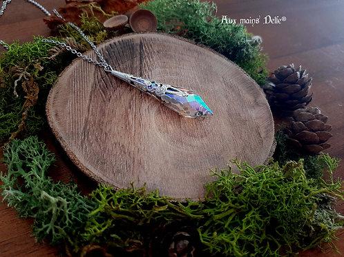 Larme d'Arwen (Cristal Swarovski®) (arc en ciel)(argenté)