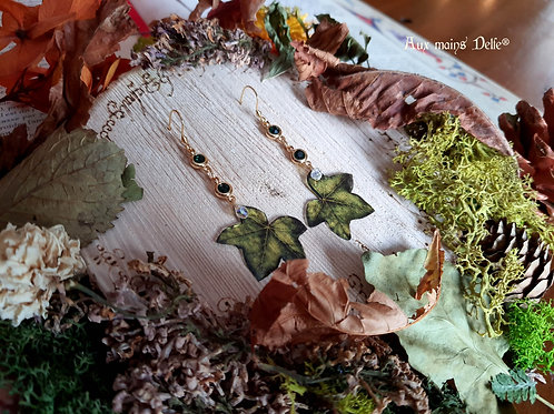 "Boucles ""Lierre des Korrigans"" (vert)"